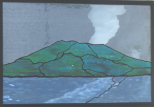 桜島ステンドグラス