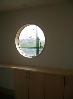 玄関丸窓ステンドグラス